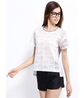 ガーベラレディース Tシャツ カットソー 半袖 シンプル 千鳥格子 mb14258-1