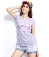 ガーベラレディース Tシャツ カットソー 半袖 シンプル 丸首 スパンコール ベーシック mb14263-1