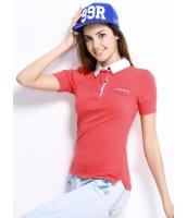 ガーベラレディース ポロシャツ 半袖 シンプル 前後プリント パフ・スリーブ mb14269-1