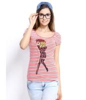 ガーベラレディース Tシャツ カットソー 半袖 シンプル 丸首 ボーダー ベーシック mb14275-2