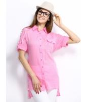 ガーベラレディース シャツ 半袖 シンプル カジュアル 純綿 ゆったり ハイロー mb14278-2