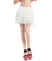 ガーベラレディース ティアードスカート ミニスカート コーデアイテム レース切替 mb14291-2