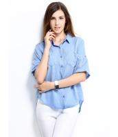 ガーベラレディース シャツ シンプル カジュアル 純綿 ゆったり mb14304-2