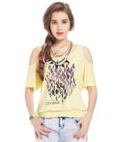 ガーベラレディース Tシャツ カットソー 半袖 カットアウトショルダー mb14307-1