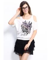 ガーベラレディース Tシャツ カットソー 半袖 カットアウトショルダー mb14307-2