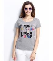 ガーベラレディース Tシャツ カットソー 半袖 文字入り ベーシック mb14312-1