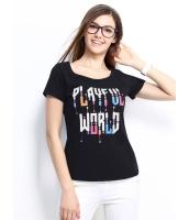 ガーベラレディース Tシャツ カットソー 半袖 文字入り ベーシック mb14312-2