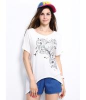ガーベラレディース Tシャツ カットソー 半袖 イレギュラー裾 Vネック mb14319-3