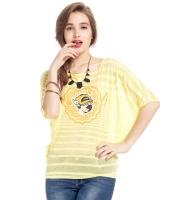 ガーベラレディース Tシャツ カットソー 半袖 ボーダー ドルマン袖 mb14321-1