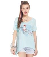 ガーベラレディース Tシャツ カットソー 半袖 ハイロー mb14327-1