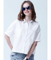 ガーベラレディース シャツ 半袖 シンプル ショート丈 ドロップショルダー ハイロー 綿質 mb14336-1