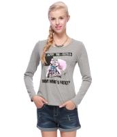 ガーベラレディース Tシャツ カットソー 長袖 カジュアル コーデアイテム スパンコール 丸首 リラックス mb14351-1
