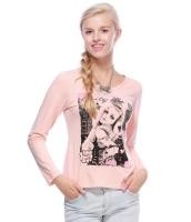 ガーベラレディース Tシャツ カットソー 長袖 カジュアル コーデアイテム スパンコール 丸首 リラックス mb14357-1