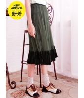 ガーベラレディース フレアスカート 膝丈スカート 韓国風 プリーツ コーデアイテム mb14644-3