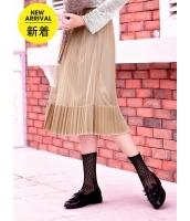 ガーベラレディース フレアスカート 膝丈スカート 韓国風 プリーツ コーデアイテム mb14644-4