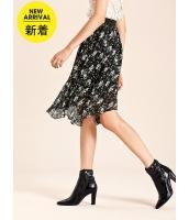ガーベラレディース フレアスカート 膝丈スカート エレガント ロマンチック 花柄 立体 mb14770-1