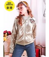 ガーベラレディース ジャケット スタンドカラー 韓国風 刺繡入り mb14791-1