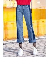 ガーベラレディース コーデアイテム ロールアップ ジーンズ デニムパンツ クロップドパンツ Koreanスタイル mb15222-1
