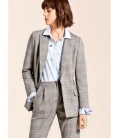 ガーベラレディース 格子 着やせ 長袖 ミディアム丈 コーデアイテム テーラードジャケット mb15292-1