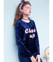ガーベラレディース 韓国風 文字入り Tシャツ・カットソー 長袖 Koreanスタイル mb15314-1