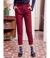 ガーベラレディース 裾 ロールアップ 刺繡入り サブリナパンツ Koreanスタイル mb15360-2