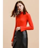 ガーベラレディース エレガント ロマンチック スタンドカラー ニットウェア セーター 長袖 mb15362-2