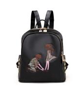 レディースバッグ バックパック リュックサック リベット 可愛い 刺繍 学生風 mb15700-1