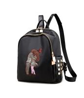 レディースバッグ バックパック リュックサック リベット 可愛い 刺繍 学生風 mb15700-2