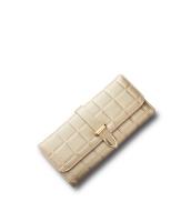 レディース財布 長財布 三つ折り H型口金 格子 クラッチバッグ mb15866-5