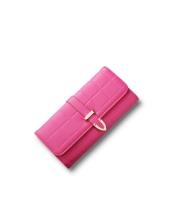 レディース財布 長財布 三つ折り H型口金 格子 クラッチバッグ mb15866-6