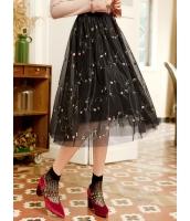 ガーベラレディース ギャザースカート 膝丈スカート mb15979-1