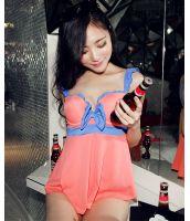 【即納】ファッション・フレア・タンキニ水着-tkm-n7090-rd-xl-【カラー:レッド】-【サイズ:XL】