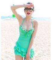 【即納】ファッションワンピース水着-tkm-n7108-g-l-【カラー:グリーン】-【サイズ:L】