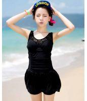 【即納】ファッションワンピース水着-n7122-tkm-n7122-bk-l【カラー:ブラック】【サイズ:L】