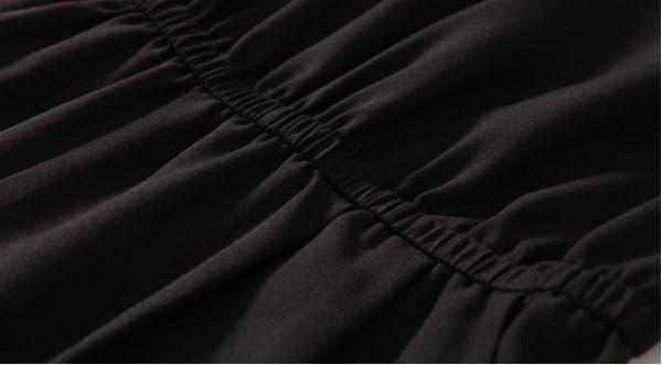 サロペット オーバーオール スクエアネックチェック柄切替 脚口シャーリング加工九分丈-os5611