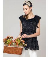 チュニック 半袖 花柄プリント  ベルト付き-os5907