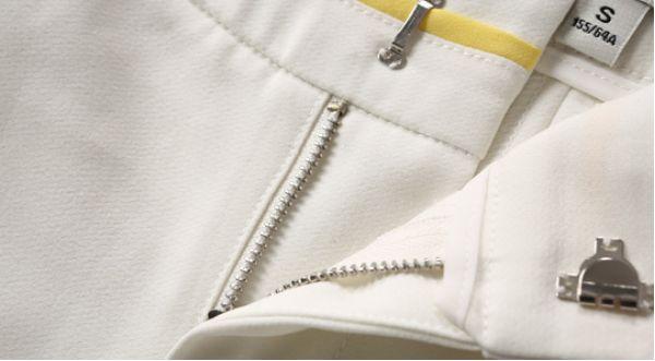 サブリナパンツ カプリパンツ 七分丈脚口刺繍入りホロー 無地大きいサイズあり-os7408