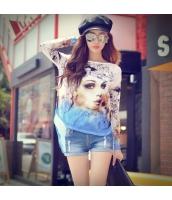 ガーベラレディース Tシャツ カットソー 長袖 着やせ スパンコール 春物 pk3850-1