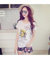 ガーベラレディース Tシャツ カットソー 半袖 かわいい 着やせ 夏物 pk3857-1