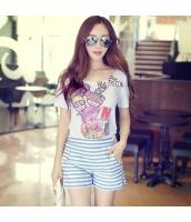 ガーベラレディース Tシャツ カットソー 半袖 かわいい 着やせ 夏物 pk3867-1