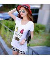 ガーベラレディース Tシャツ カットソー 半袖 かわいい 着やせ 夏物 pk3888-1