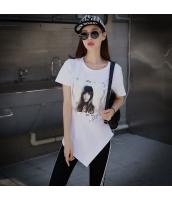 ガーベラレディース Tシャツ カットソー 半袖 イレギュラー裾 夏物 pk3936-1