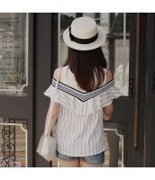 【ブラウス】半袖【カットアウトショルダー】夏物 pk3992-1
