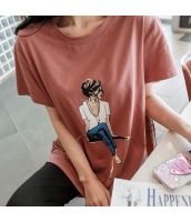 【Tシャツ】カットソー【半袖】ゆったり【夏物】 pk4002-1