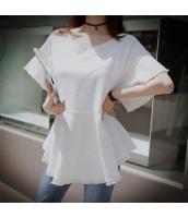 【Tシャツ】カットソー【半袖】ゆったり【白】ホワイト【夏物】 pk4029-1