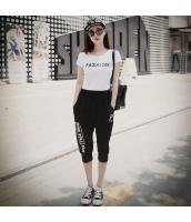 【アンサンブル】Tシャツ【カットソー】半袖【カプリパンツ】上下2点セット【白】ホワイト【夏物】 pk4031-1