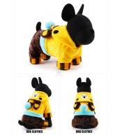 【即納】黄色イエロー 三角帽子熊ちゃんクマ ドッグウェア 犬用品 パーカー つなぎ・柔らかタオル風生地カバーオール 四足 tk-pt0011-1-xs-ye【カラー:イエロー】【サイズ:XS】