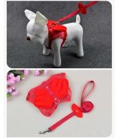 【即納】ペット用品 犬用品 ハーネスリード 小型・中型犬通用 tk-pt0144-2-m-rd【カラー:レッド】【サイズ:M】
