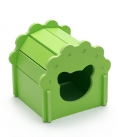 【即納】ペット ハムスター用品 おもちゃ 花型ハウス tk-pt0227-3-m-gn【カラー:グリーン】【サイズ:M】