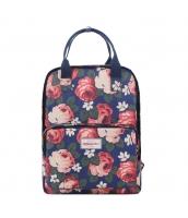レディースバッグ バックパック リュックサック 花柄 防水 キャンバス 帆布 旅行 学園風 qa10005-2